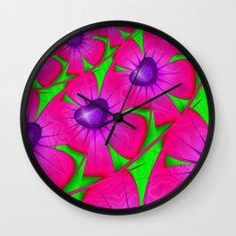 Floral Dance Wall Clock