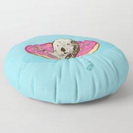 Otter in Donut Floor Pillow
