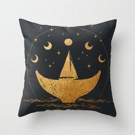 Night Seafarer Throw Pillow