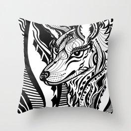 Sovereign Wolf Throw Pillow