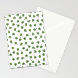 Light Green Clover Stationery Cards