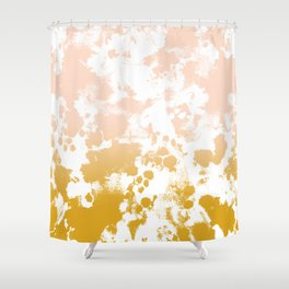 Essie - abstract minimal gold painting metallics home decor minimalist hipster Shower Curtain
