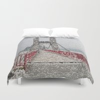 bridge Duvet Covers featuring Bridge by Mr and Mrs Quirynen