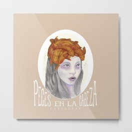 Fishes on my Head Metal Print