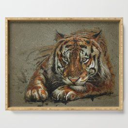 Tiger background Serving Tray