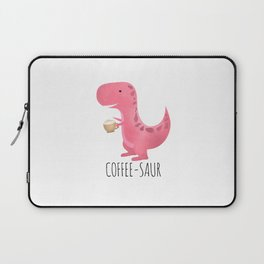 Coffee-saur | Pink Laptop Sleeve