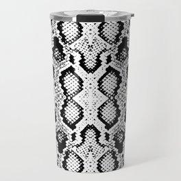Snake skin texture. black white simple ornament Travel Mug