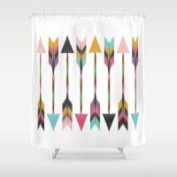 bohemian Shower Curtains featuring Bohemian Arrows by Bohemian Gypsy Jane