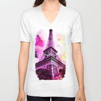 wanderlust V-neck T-shirts featuring Wanderlust by Berberism