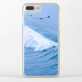 Waiting for the Perfect Wave Clear iPhone Case