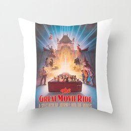 The Great Movie Ride Original Poster Throw Pillow