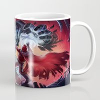 magneto Mugs featuring Magneto vs Megatron by Larrydraws