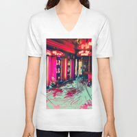 burlesque V-neck T-shirts featuring Burlesque by The Lola is Here Store