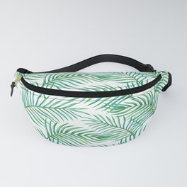 Palm Leaves_Bg White Fanny Pack