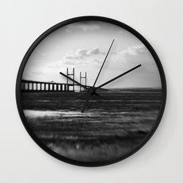 Severn Crossing Lensbaby 01 - Severn Beach Wall Clock