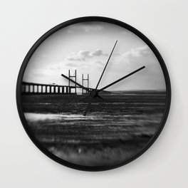 Severn Crossing Lensbaby 01 - Severn Beach Wall Clock