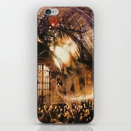 Fred and George Weasley Flying in Hogwarts Great Hall iPhone Skin