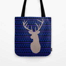 Deer on triangle wallpaper Tote Bag