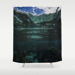 Dark Caribbean Layers Shower Curtain