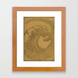 Vintage Golden Wave Framed Art Print