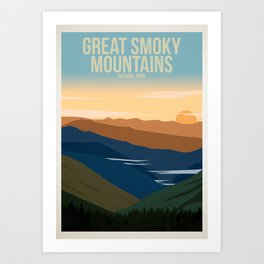 Great Smoky Mountains National Park Art Print