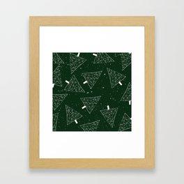 Christmas Trees Green Framed Art Print