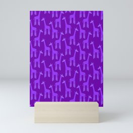 Giraffes-Purple Mini Art Print