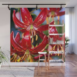 Vibrant Red Martagon Lily Wall Mural