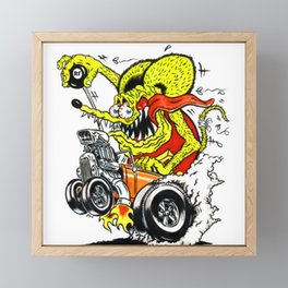 Ed Roth Rat Fink Racing Team Framed Mini Art Print