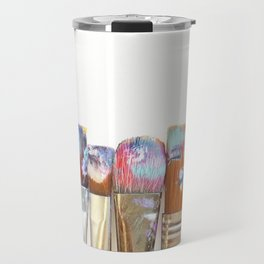 Five Paintbrushes Minimalist Photography Travel Mug