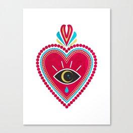 Ex Voto Sacred Heart Canvas Print