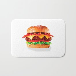 Geometric Bacon Cheeseburger Bath Mat