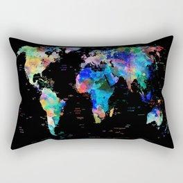 world map political watercolor Rectangular Pillow