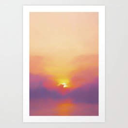 Pastel Sunset Art Print