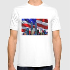 Remembrance MEDIUM White Mens Fitted Tee