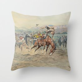 C.M. Russell The Tenderfoot Throw Pillow