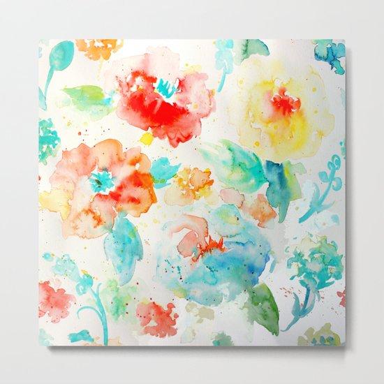 Abstract Flowers 02 Metal Print