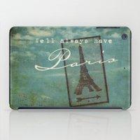casablanca iPad Cases featuring Paris by Sybille Sterk