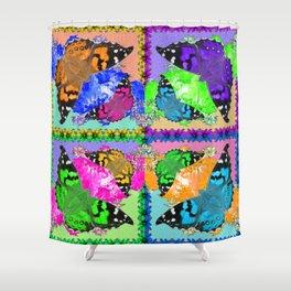 (Pop Art) Butterflies are Free! Shower Curtain