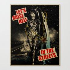 Let's Raise Hell Canvas Print