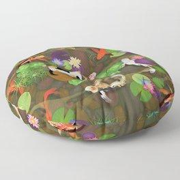 Japanese Koi Pond Pattern  Floor Pillow