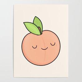 Happy Peach Poster