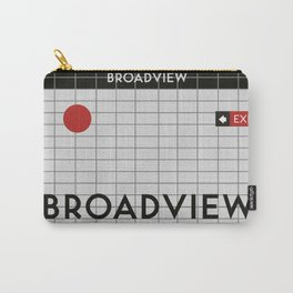 BROADVIEW   Subway Station Carry-All Pouch