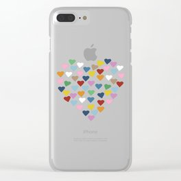 Hearts Heart Black Clear iPhone Case
