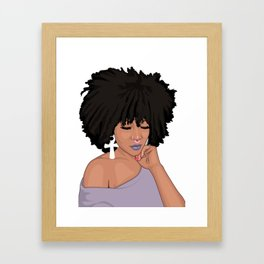 Inner Peace Is Real Beauty Framed Art Print