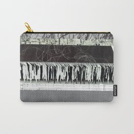 Collage - Black on White Carry-All Pouch