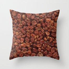 Cornelian cherries. Background. Throw Pillow