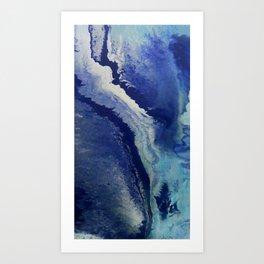 Wake - Abstract Painting by David Munroe Art Print