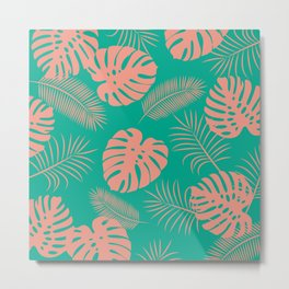 TROPICAL LEAVES 8 Metal Print