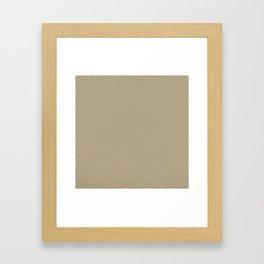 Beige Leather Texture Framed Art Print